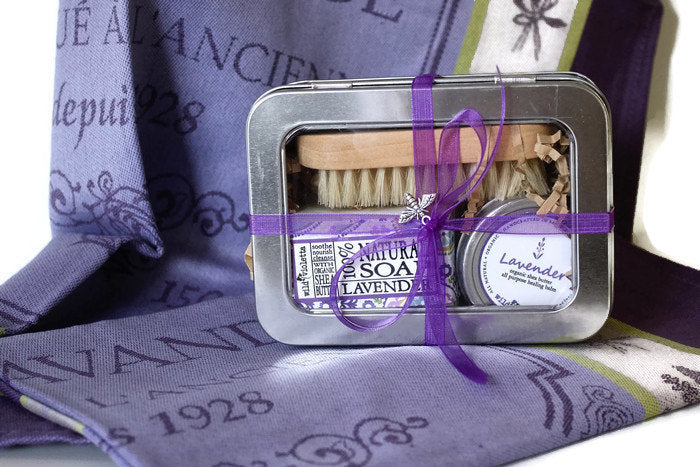 Lavender Spa Gift Tin/ Ready to Ship / Lavender Towel Option