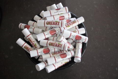 Cherry Lip Balm with Organic Shea Butter