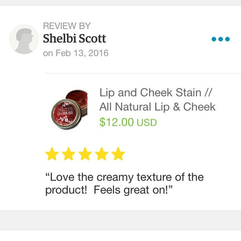 Lip and Cheek Stain / Natural Make Up Color Tint / Cheek Stain / Lip Color Balm - Wild Violetta  - 3