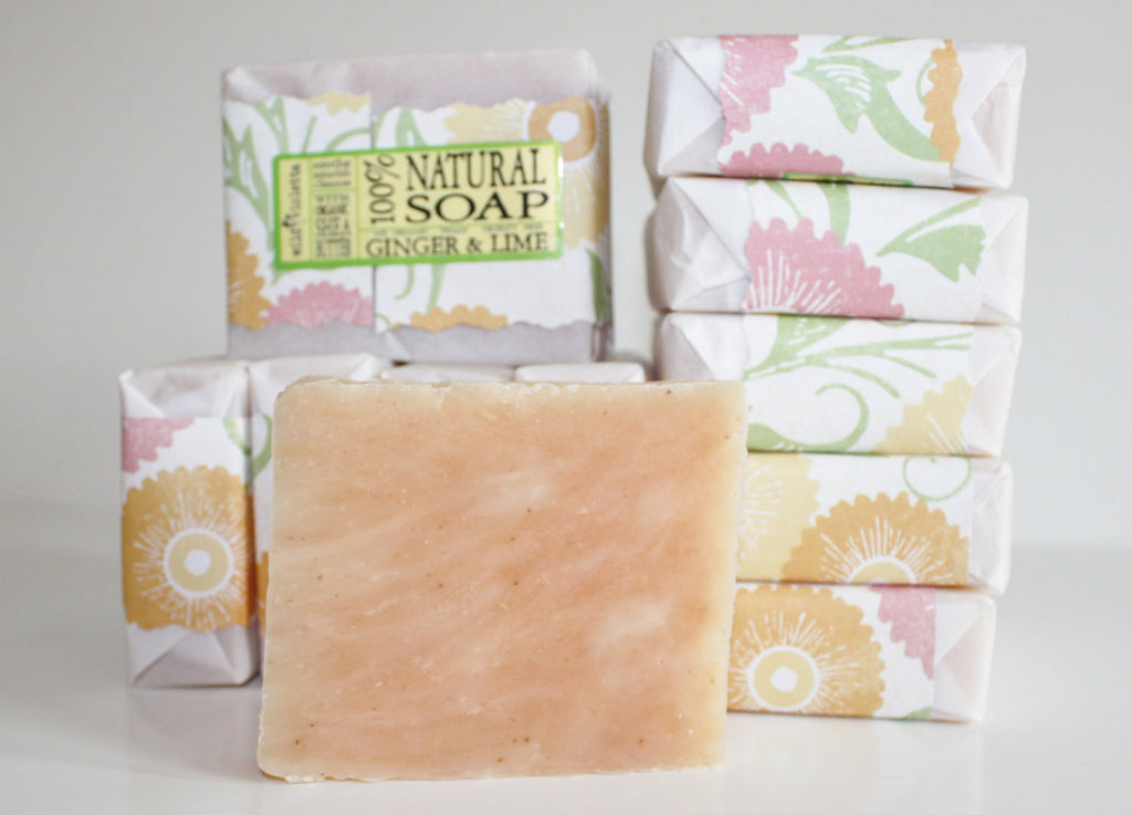 Natural Soap Ginger and Lime Loved by Men // Made with Shea Butter and Essential Oils / Big 5 oz bar - Wild Violetta  - 1