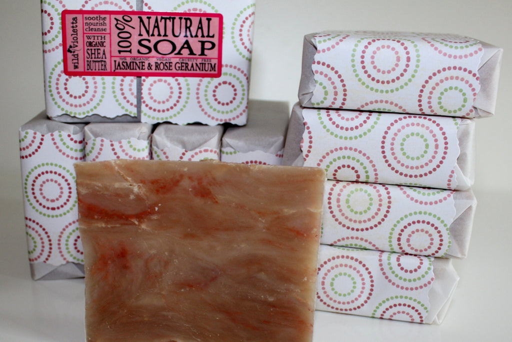 Shea Butter Natural Soap Jasmine Floral - Wild Violetta