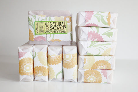 Natural Soap Ginger and Lime Loved by Men // Made with Shea Butter and Essential Oils / Big 5 oz bar - Wild Violetta  - 2
