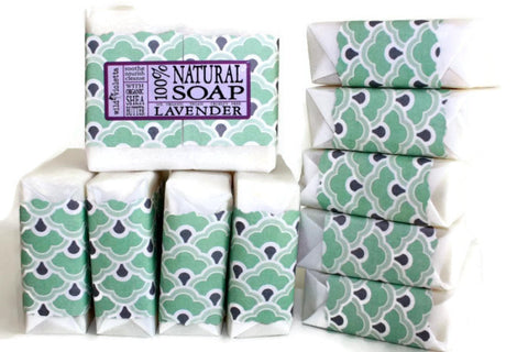 Lavender Shea Soap with Lavender Flowers Best Seller (Minimum of 6) - Wild Violetta  - 2