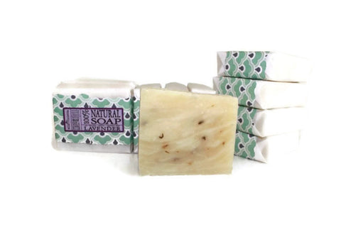 Lavender Shea Soap with Lavender Flowers Best Seller (Minimum of 6) - Wild Violetta  - 4