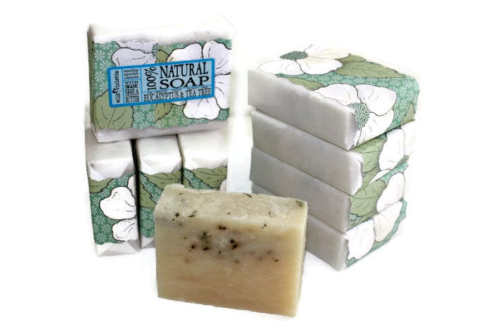 Shea Soap Bar Eucalyptus & Tea Tree (Minimum 6) - Wild Violetta  - 1