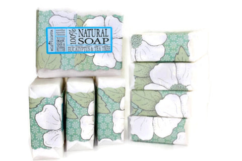 Shea Soap Bar Eucalyptus & Tea Tree (Minimum 6) - Wild Violetta  - 4