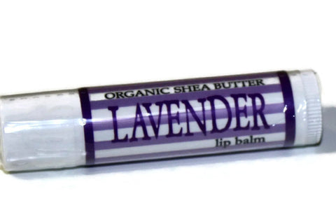 Lavender Lip Balm Made with Organic Shea and Essential Oil