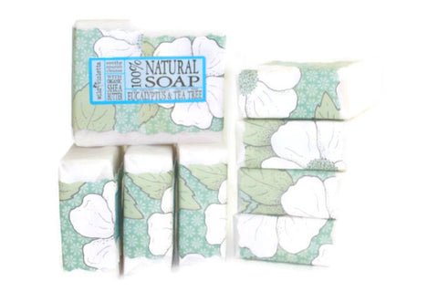 Shea Soap Bar Eucalyptus & Tea Tree (Minimum 6) - Wild Violetta  - 2