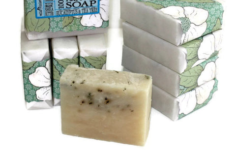 Shea Soap Bar Eucalyptus & Tea Tree (Minimum 6) - Wild Violetta  - 3