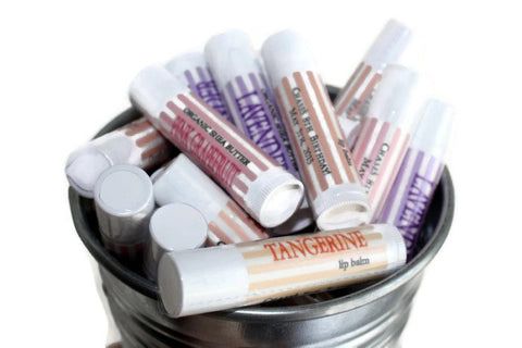 Custom Lip Balm for your Party, Shower, Wedding // 50 tubes Natural Lip Balm // Personalized Lip Balm Tubes // Personalized Party Favor - Wild Violetta  - 2