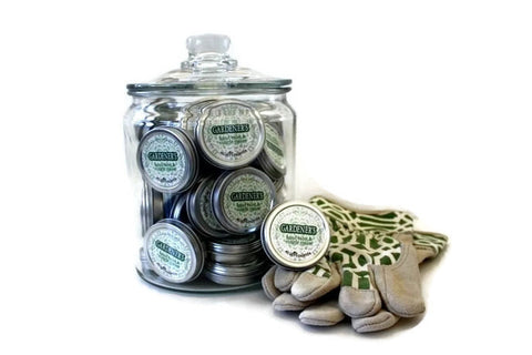 36 Gardener's Organic Shea Butter Hand Balms in Glass Display Jar