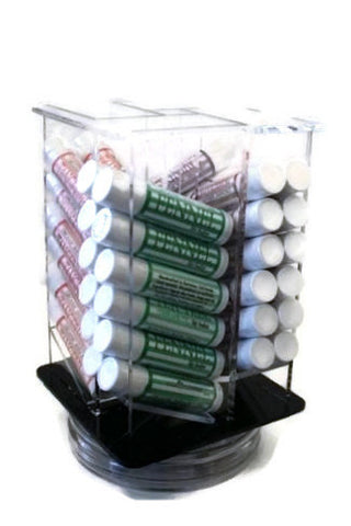 48 Organic Shea Butter Lip Balms in Acrylic Turn Top Display - Wild Violetta  - 1