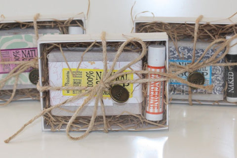 Soap Gift Box / Gift for Him / Gift for Her / Personalized Spa Gift Box / Soap and Lip Balm - Wild Violetta  - 5