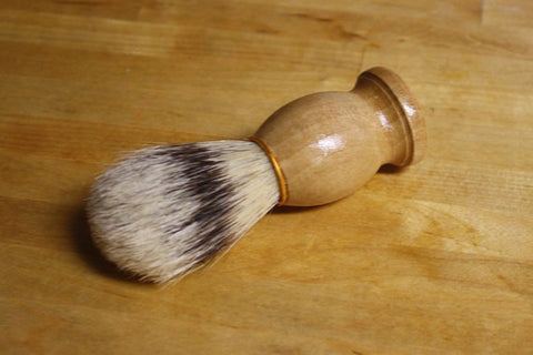 Shaving Brush // Natural Boars Bristle Old School Shave Brush // Gift for Him Men's Bath Accessory - Wild Violetta  - 5