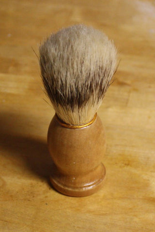 Shaving Brush // Natural Boars Bristle Old School Shave Brush // Gift for Him Men's Bath Accessory - Wild Violetta  - 3