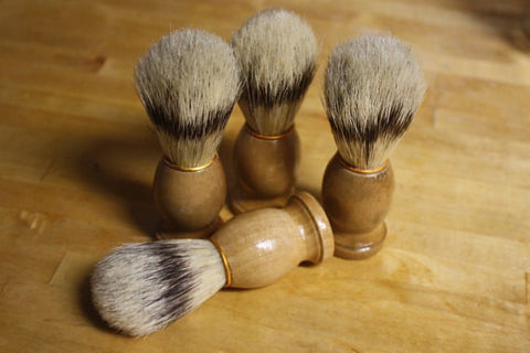 Shaving Brush // Natural Boars Bristle Old School Shave Brush // Gift for Him Men's Bath Accessory - Wild Violetta  - 4