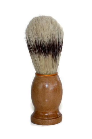 Shaving Brush // Natural Boars Bristle Old School Shave Brush // Gift for Him Men's Bath Accessory - Wild Violetta  - 2
