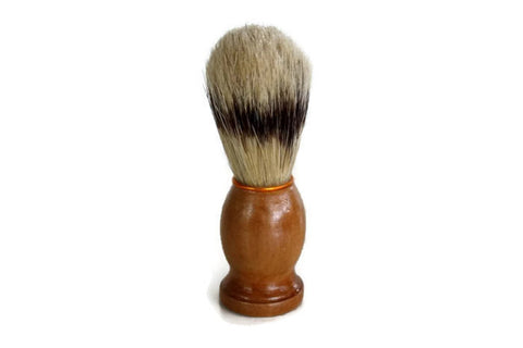 Shaving Brush // Natural Boars Bristle Old School Shave Brush // Gift for Him Men's Bath Accessory