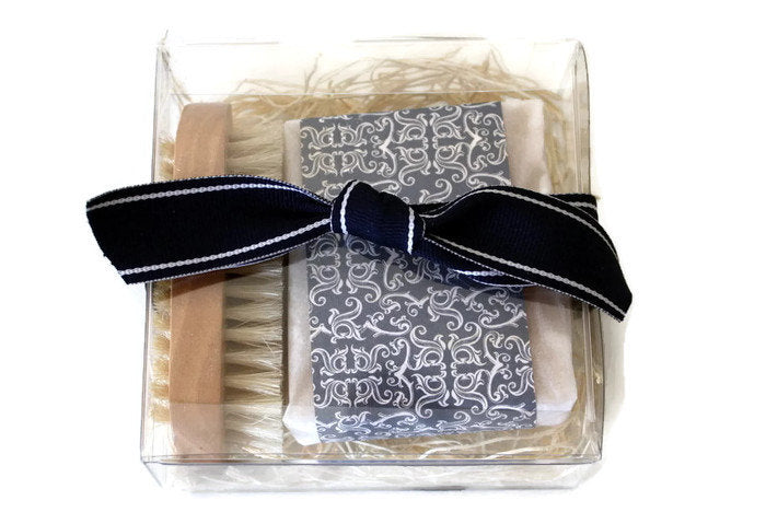 Soap Gift for Men / Soap Bar and Natural Nail Brush Gift Set