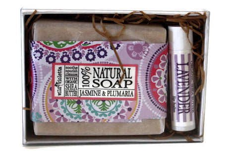 Soap Gift Box / Gift for Him / Gift for Her / Personalized Spa Gift Box / Soap and Lip Balm - Wild Violetta  - 3