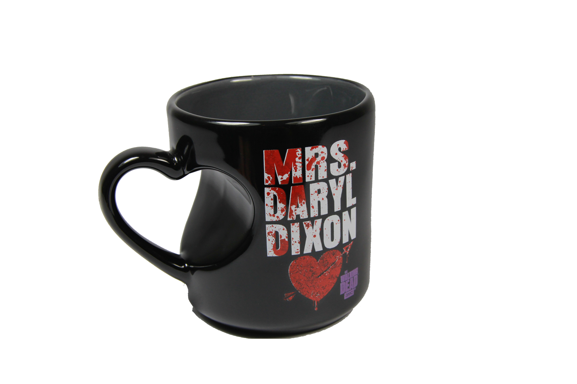 The Walking Dead Mrs. Daryl Dixon 12 oz Heart Mug - Showtimesavvy  - 4