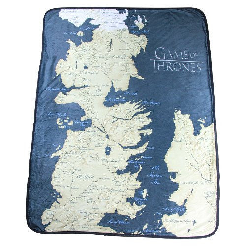 "Game of Thrones 46"" X 60"" Map Fleece Throw Blanket - Showtimesavvy  - 1"