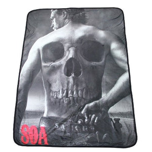 Sons of Anarchy Jax Teller Soft Fleece Blanket - Showtimesavvy