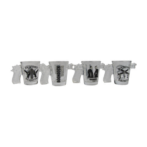 Boondocks Saints 4pc Shot Glass Set
