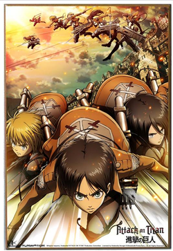 Attack on Titan Wall Plaque - Trio