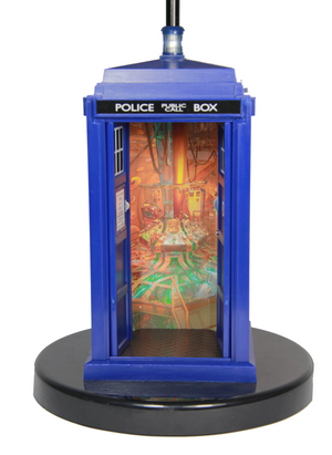 Doctor Who Flashing Tardis Pattern Table Lamp - Showtimesavvy  - 3