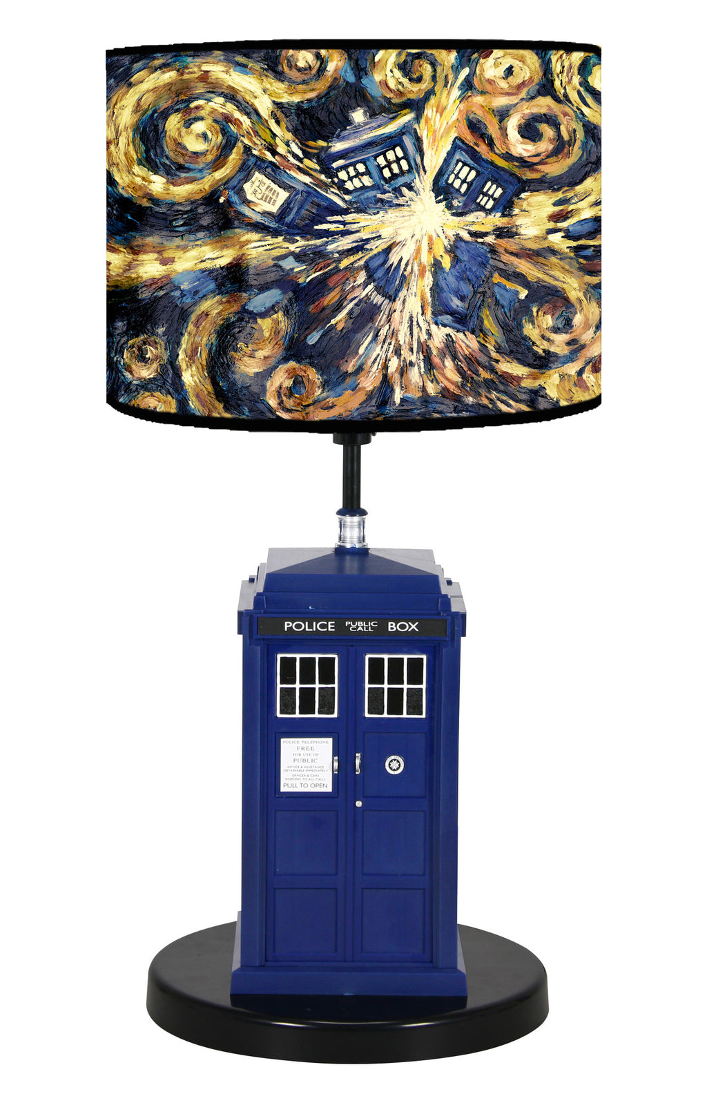 Doctor Who Flashing Tardis Pattern Table Lamp - Showtimesavvy  - 1