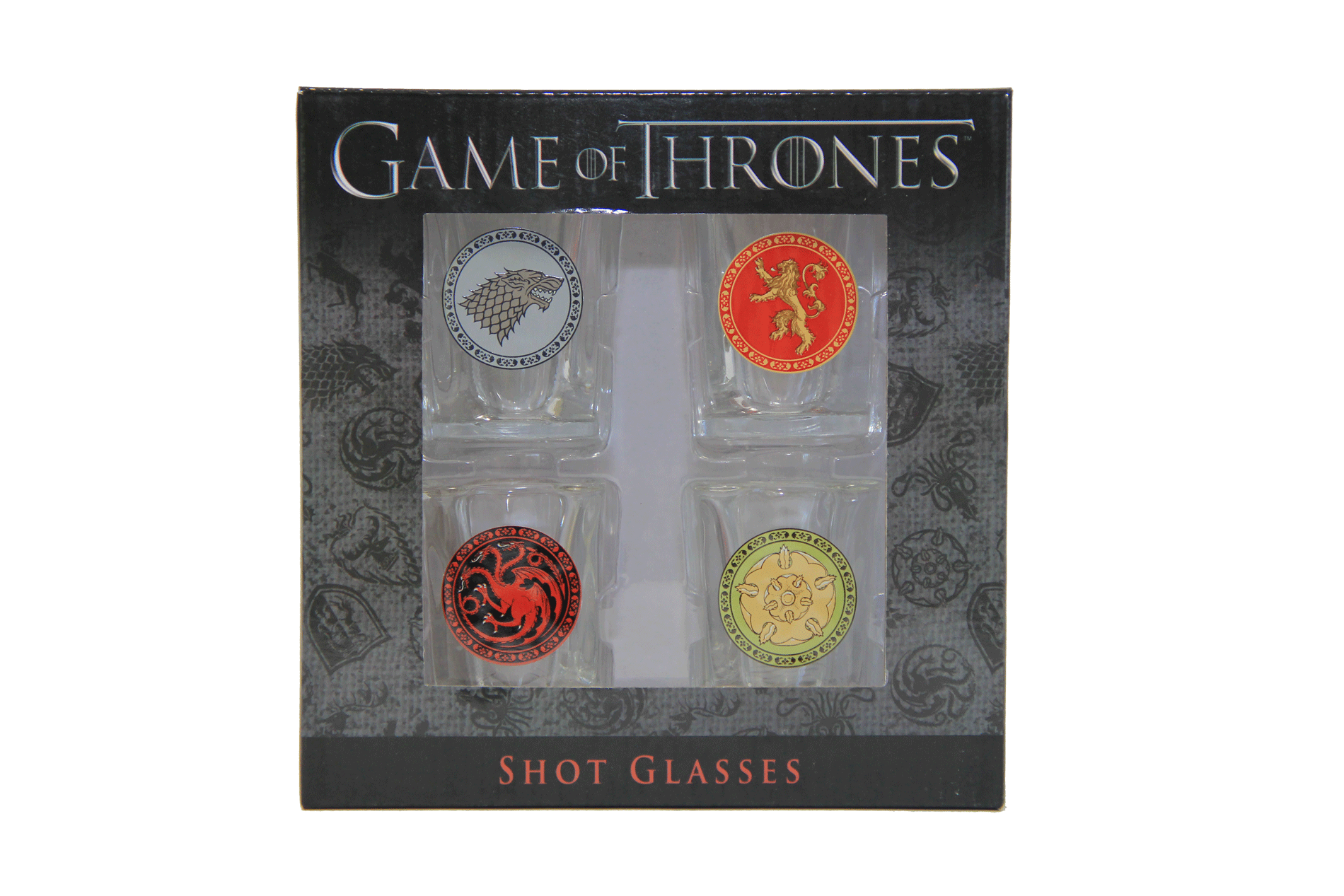 Game of Thrones House Sigil Shot Glass Set (Set of 4) - Showtimesavvy  - 2