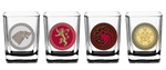 Game of Thrones House Sigil Shot Glass Set (Set of 4) - Showtimesavvy  - 1