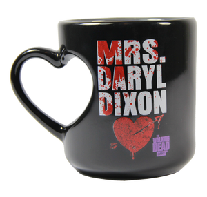 The Walking Dead Mrs. Daryl Dixon 12 oz Heart Mug - Showtimesavvy  - 3