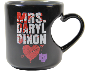The Walking Dead Mrs. Daryl Dixon 12 oz Heart Mug - Showtimesavvy  - 1