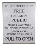 Doctor Who Tardis Police Box Tin Sign - Showtimesavvy