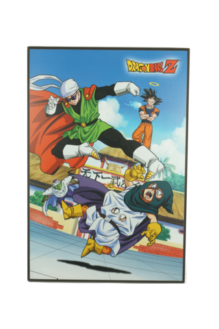 Dragon Ball Z Goku and Friends Tin Wall Sign