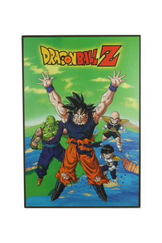 Dragon Ball Z Gohan and Mighty Mask Tin Wall Sign