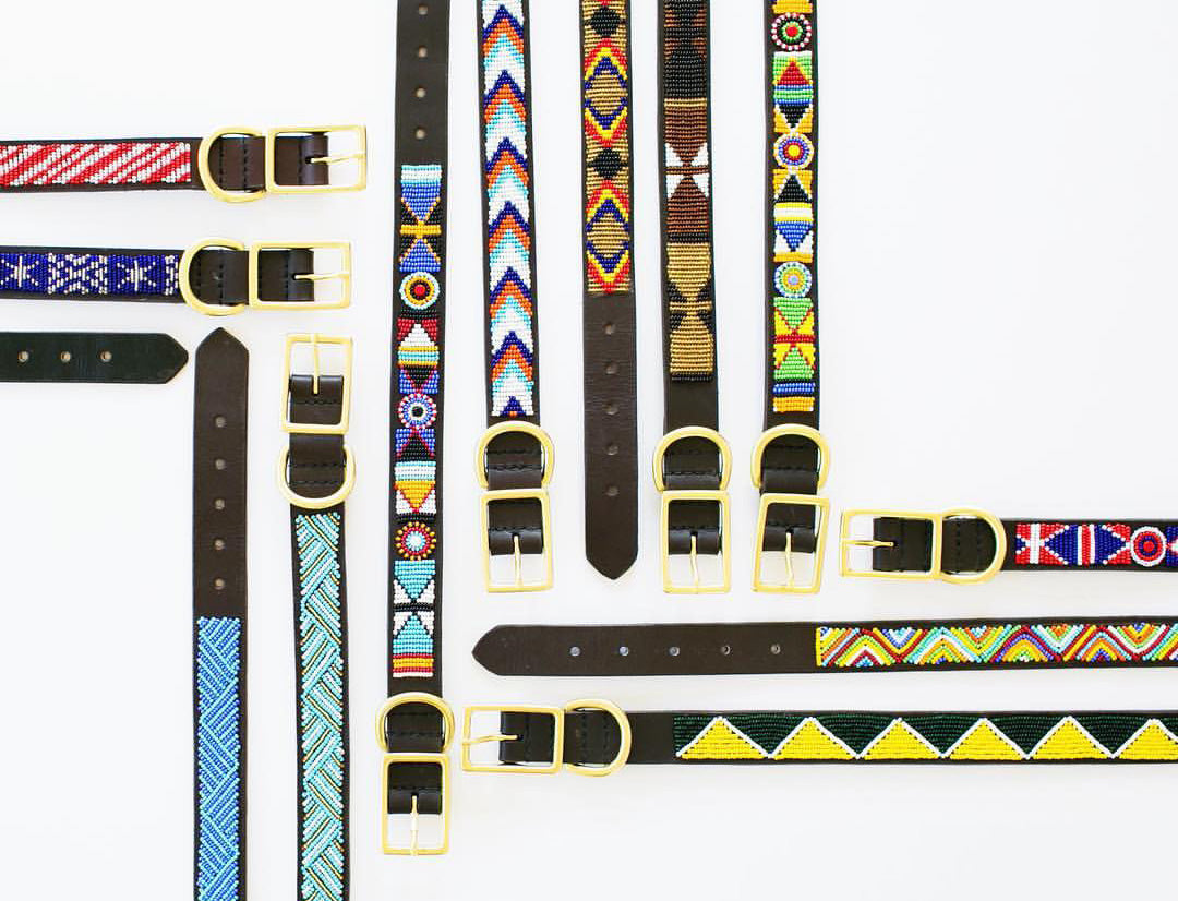 ethically made beaded dog collars