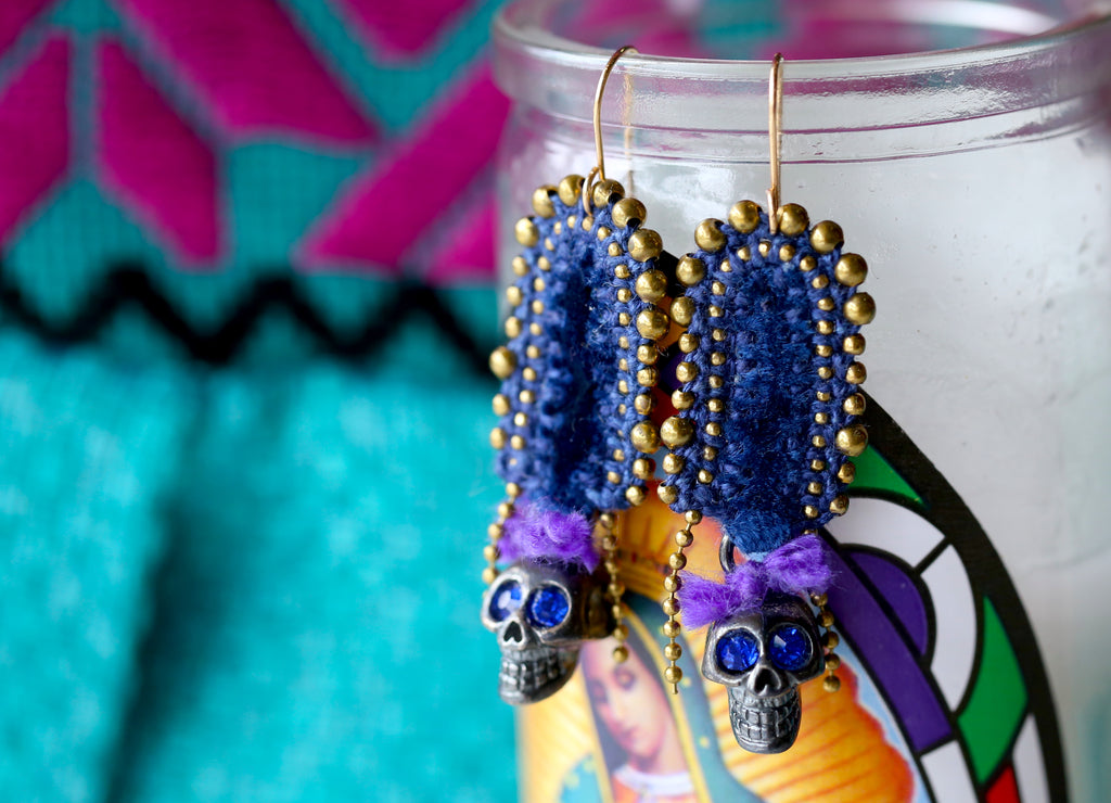 day of the dead skull jewelry