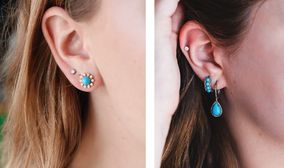turquoise earrings for everday