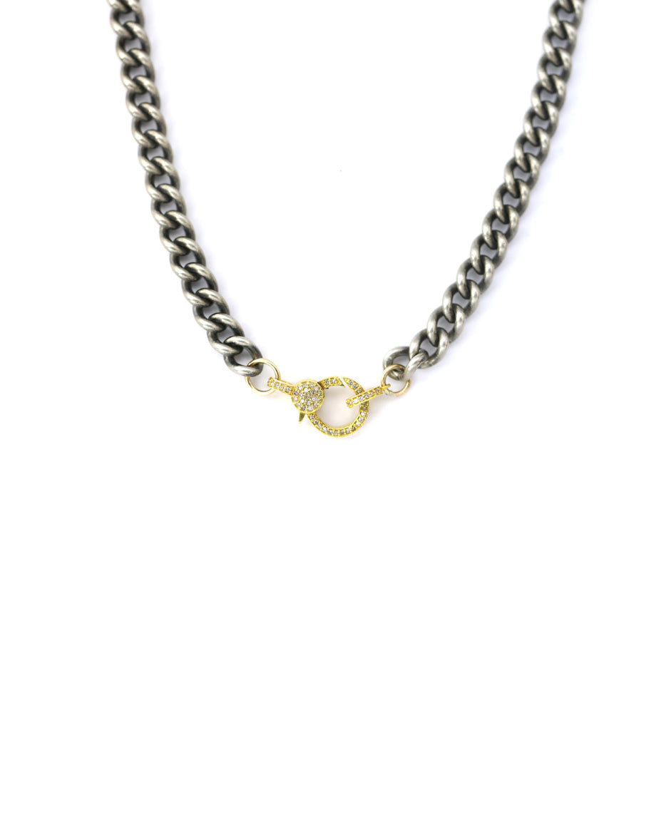 14K Gold Lobster Clasp on Thick Curb Chain