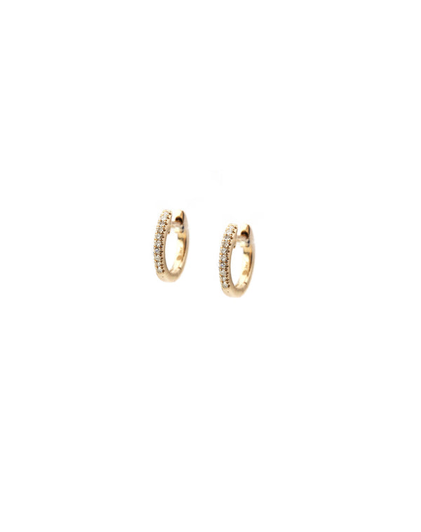 14K Rose Gold Huggie Earring