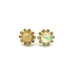 14K Diamond and Opal Stud Earrings