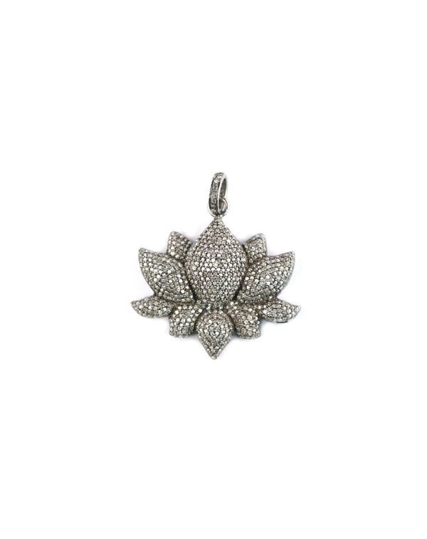 3D Diamond Lotus Pendant