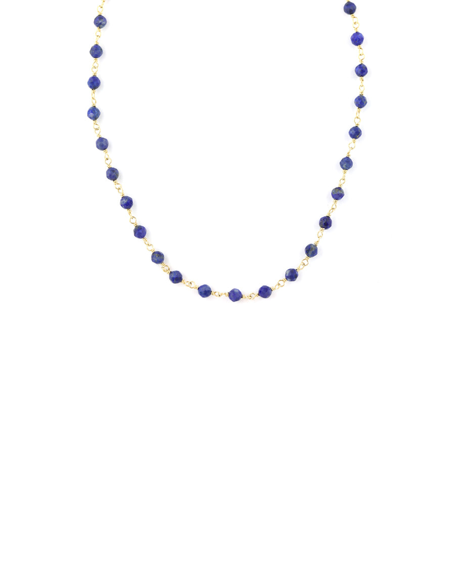 The Tin Cup Necklace: 6mm Lapis