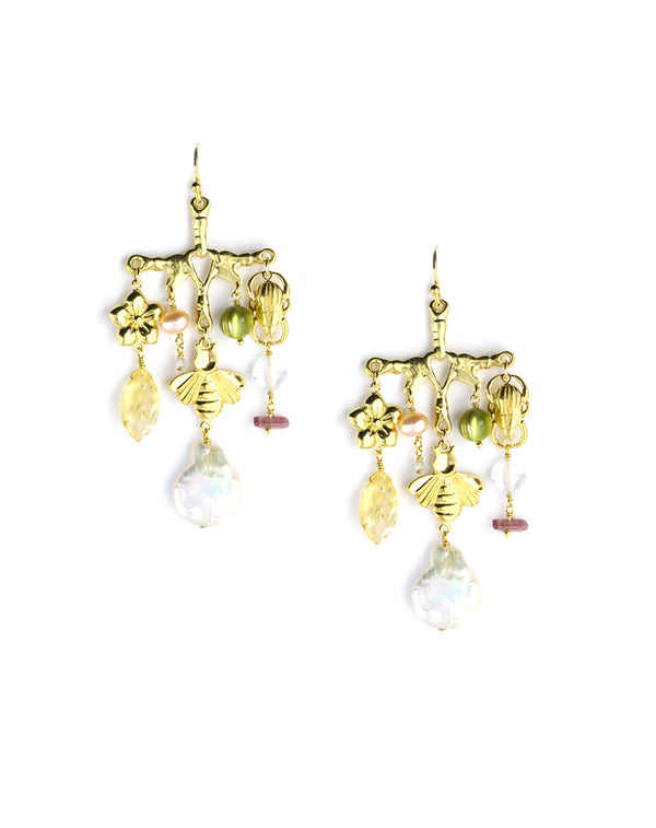 Chan Luu Jardin Chandelier Earrings
