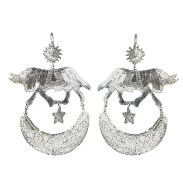 Federico Bull Chandelier Earrings