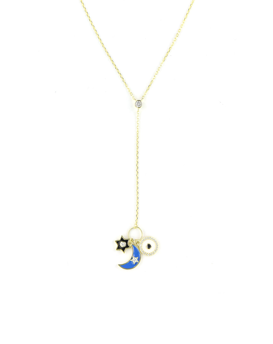 Celestial Charm Lariat Necklace