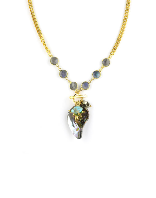 Chan Luu Abalone Charm Necklace